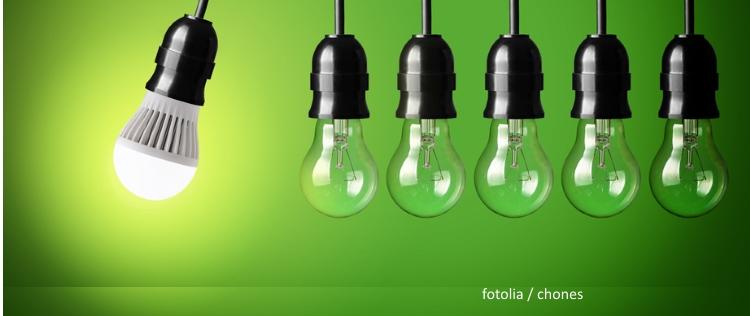 LED Lampe Strom sparen