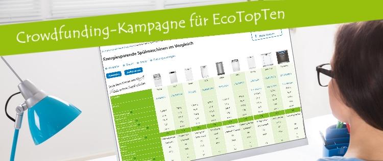 Crowdfunding-Kampagne für EcoTopTen