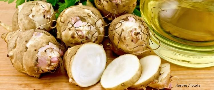 EcoTopTen Saisonrezept Februar Topinambur und Feldsalat
